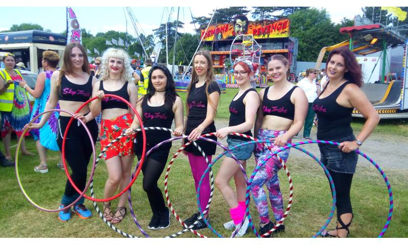 Skytribe hula hoopers at Foxton Locks Festival