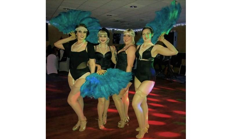 Chicas Locas Burlesque- performing 'Peaky Blinders' for CATerpillar