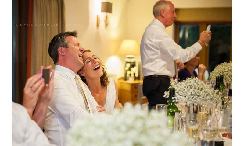 Bride and Groom Singing Along