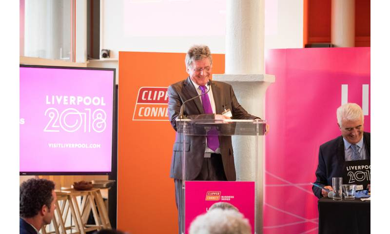 Hosting 'Round-The-World' Clipper Race launch at the Tate Liverpool, 2017.