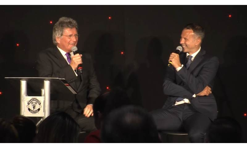 Hosting Q&A with Ryan Giggs, OBE at Old Trafford, Manchester, 2017.