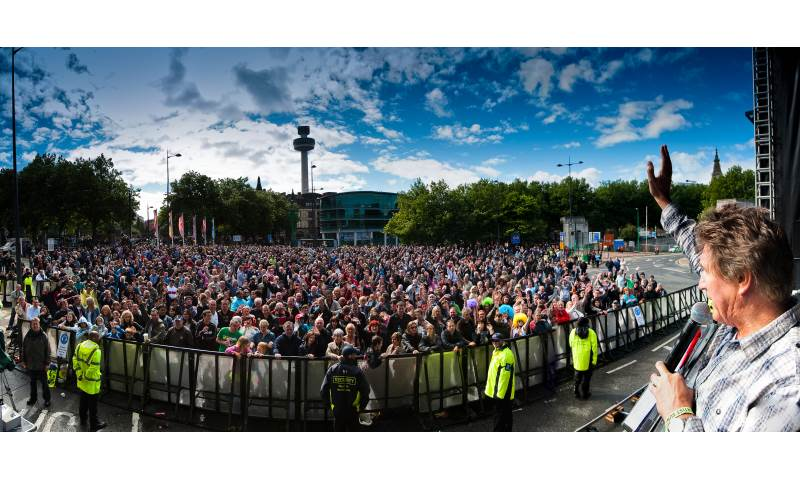 Hosting (55,000) Mathew Street Music Festival Main Stage.