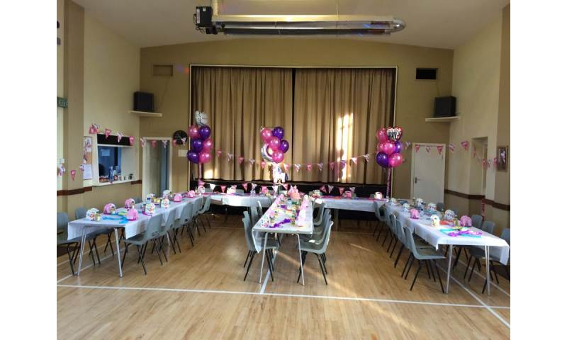 Party Tables With Helium Balloons