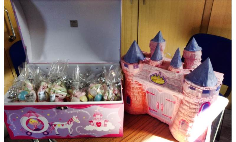Pinata and Sweetie Cones in Treasure Chest