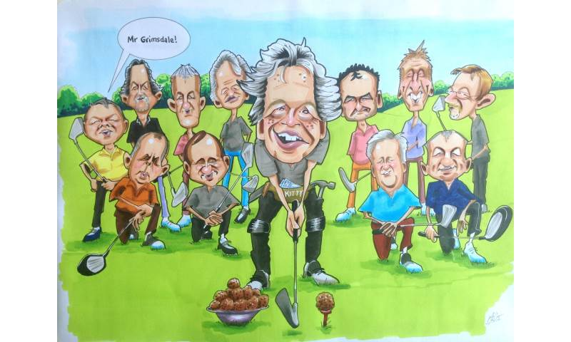 Golf Group Caricature
