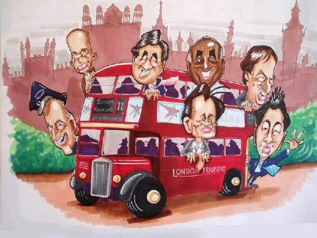 Routemaster Caricature