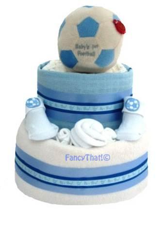 Football nappy cake