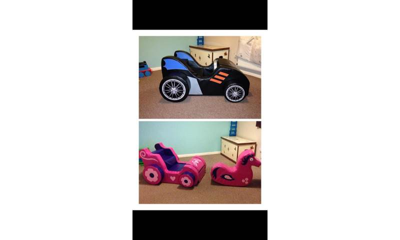 Batmobile and Priccess Carriage