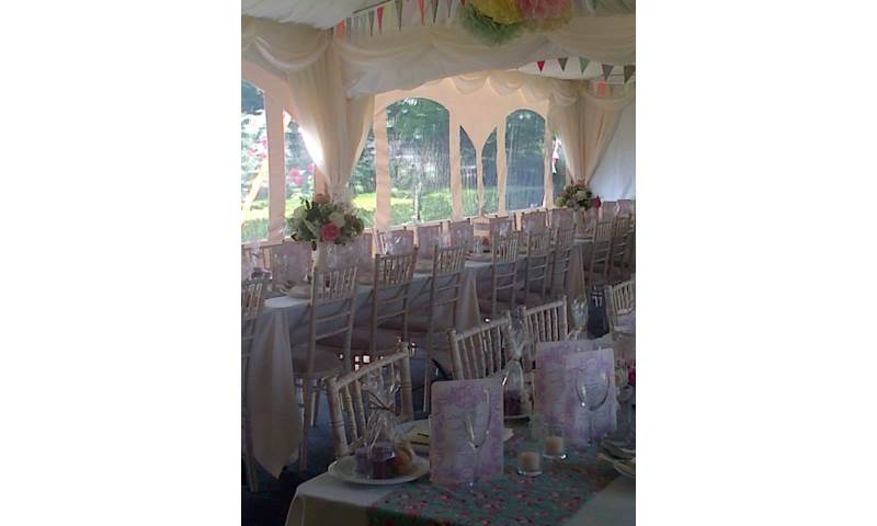 Vintage Themed Wedding Marquee Essex