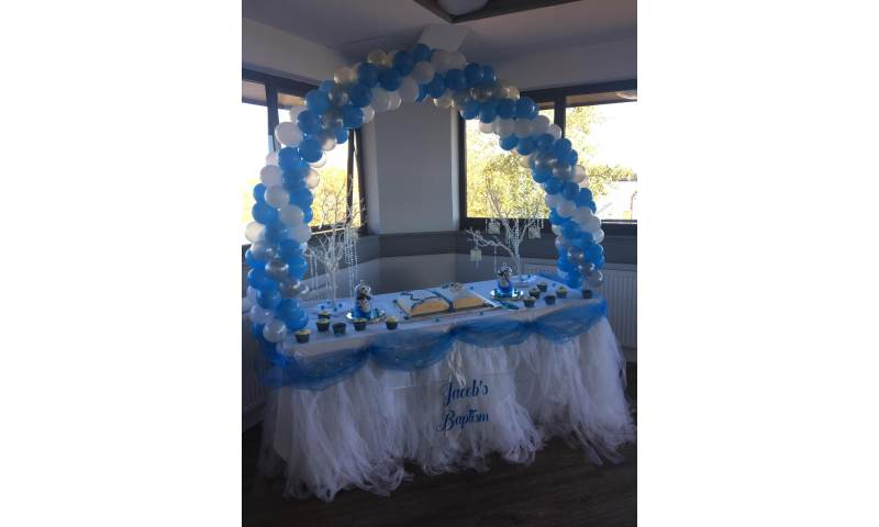 Cake Table Balloon Arch in Hertfordshire, Bedfordshire, Essex & surrounding areas.