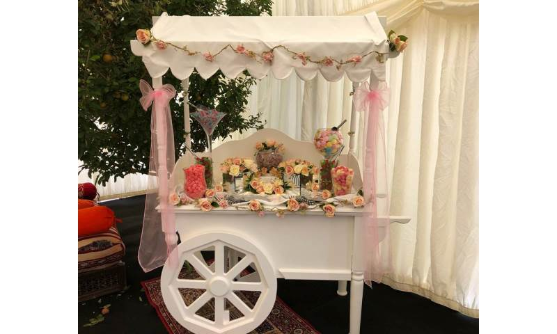 Floral Themed Candy Cart hire in Hertfordshire, Bedfordshire, Essex & surrounding areas.