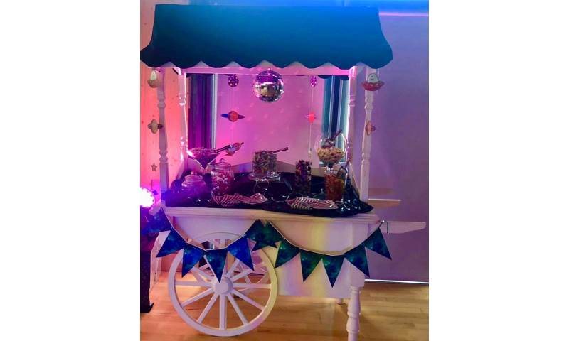 Space Themed Candy Cart hire in Hertfordshire, Bedfordshire, Essex & surrounding areas.