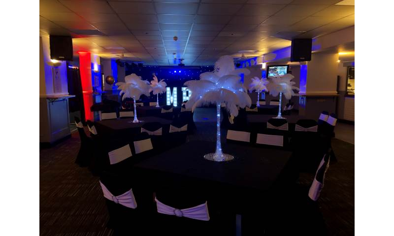 Gatsby themed venue styling available in Hertfordshire, Bedfordshire, Essex & surrounding areas