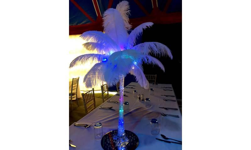 Feather Vase Centrepiece Hire in Hertfordshire, Bedfordshire, Essex & London