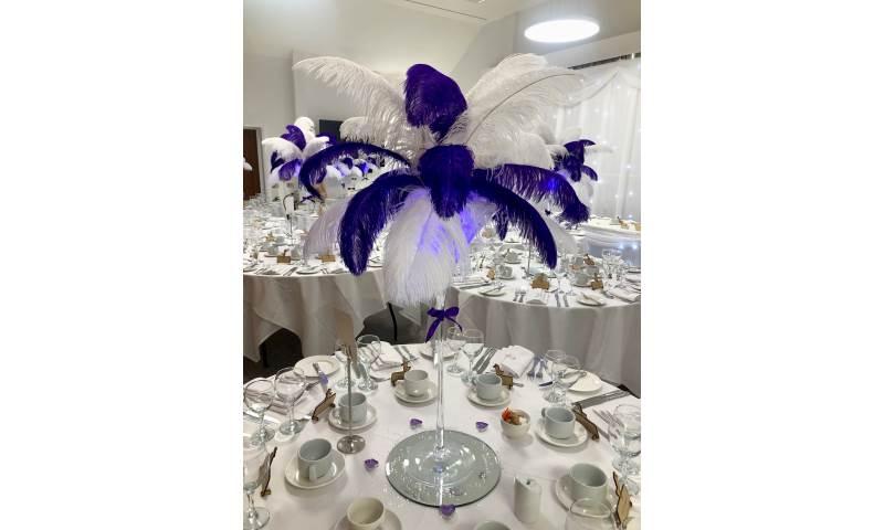 Feather Centrepiece Hire in Hertfordshire, Bedfordshire, Essex & London