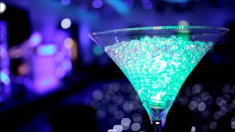Martini Glass Table Centrepiece hire in Hertfordshire, Bedfordshire, Essex & surrounding areas. Perfect for weddings, birthdays & corporate events