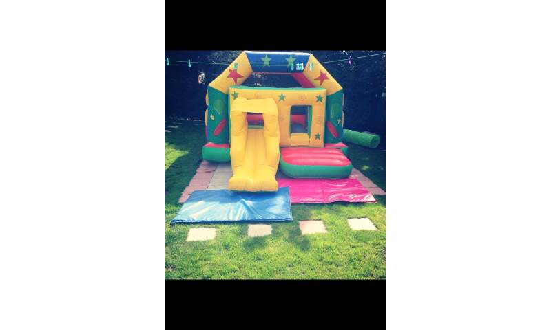16x14 Party Square With Slide and Roof