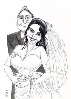 Caricature for Wedding Guests to Sign!