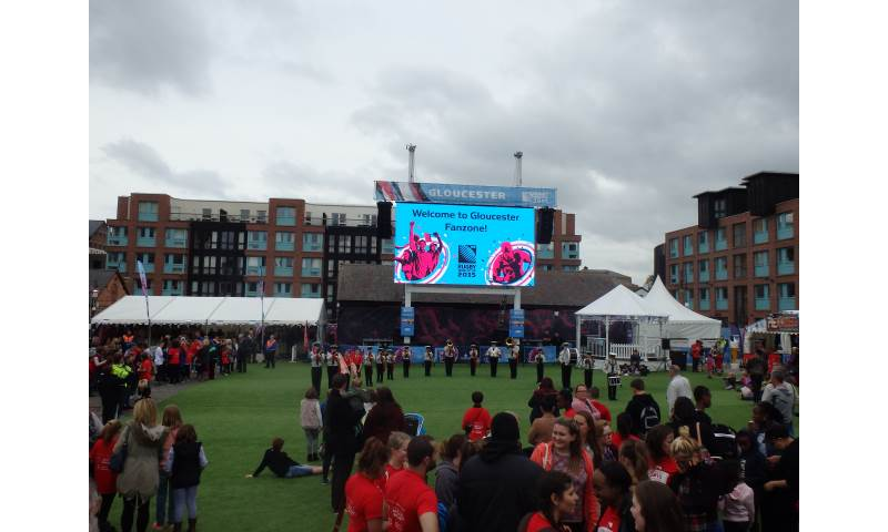 Performing Formation Routine at the Rugby World Cup Fanzone