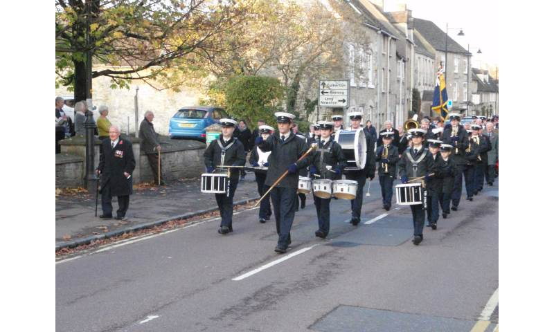 Leading Tetbury Remembrance Day Parade