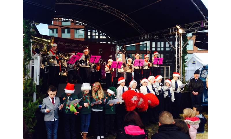 Performing Christmas Music at Gloucester's Victorian Christmas Market