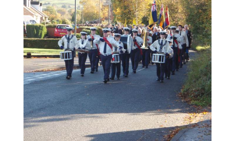 Leading Bishops Cleeve Remembrance Day Parade