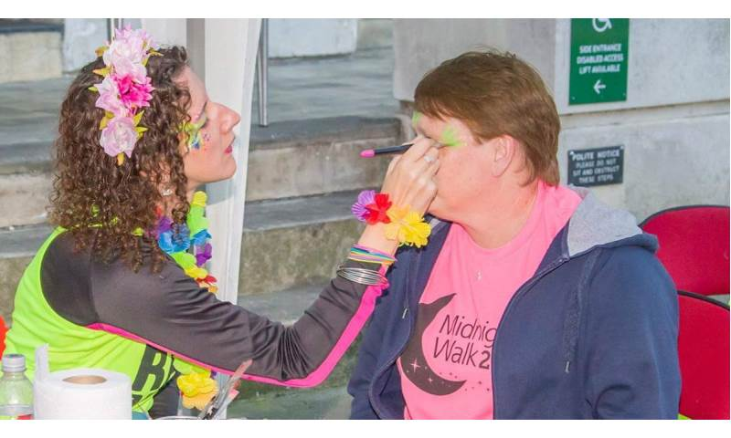 Face painting at charity events