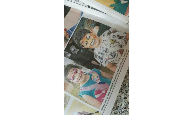 When my face painting makes the news.