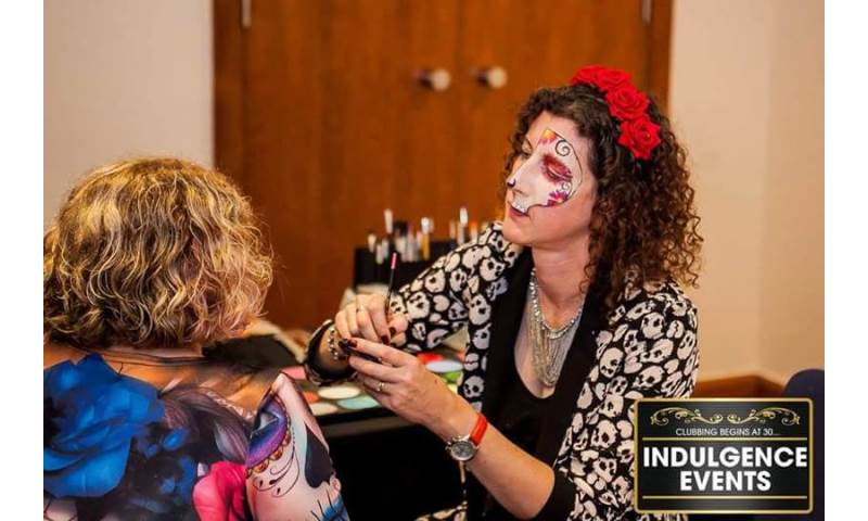 Halloween event face painting for spooky fun