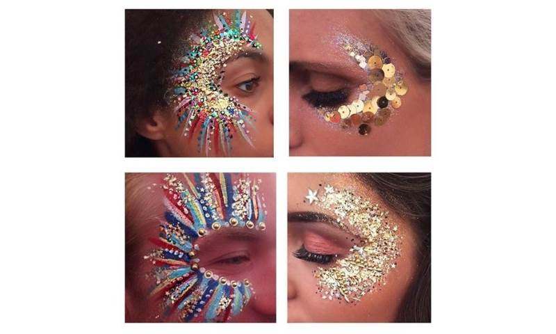 Face paint glitter multi flahes and gold.jpg