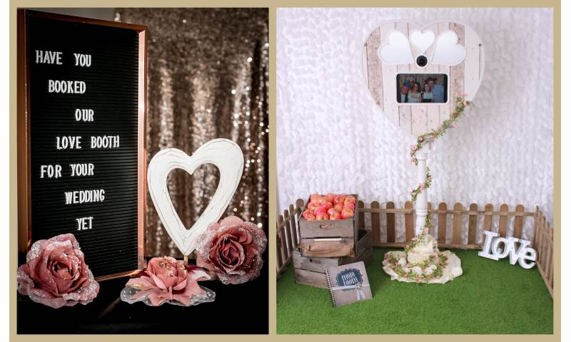 Heart shaped booth