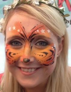 Adult Face Painting Tiger and Stars