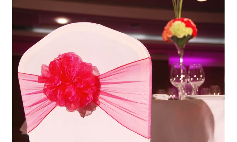 Chair Covers and Organza Sash