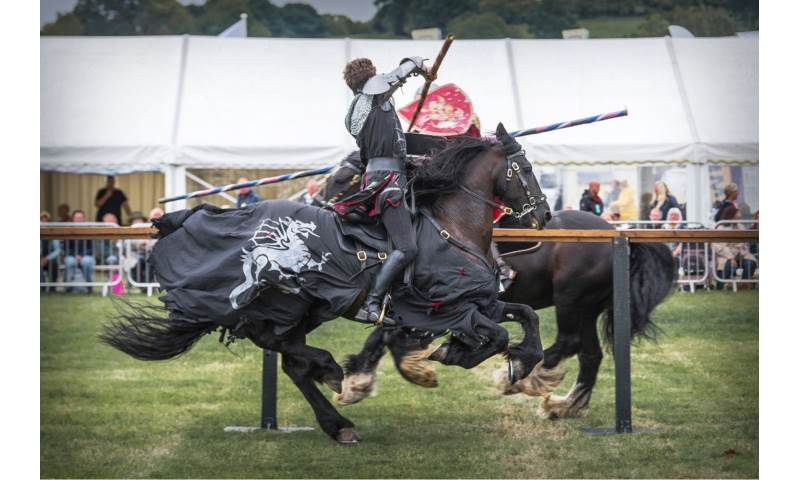 001 Cavalry of Heroes Medieval Jousting Knights on Horseback at Usk Show Monmouth Larry Weaver Photos.jpg