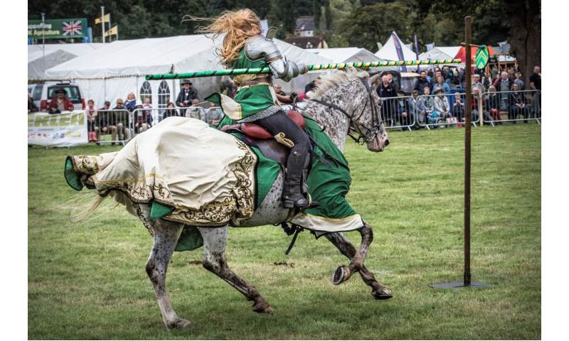012 Cavalry of Heroes Medieval Jousting Knights on Horseback at Usk Show Monmouth Larry Weaver Photos.jpg