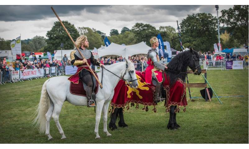 043 Cavalry of Heroes Medieval Jousting Knights on Horseback at Usk Show Monmouth Larry Weaver Photos.jpg
