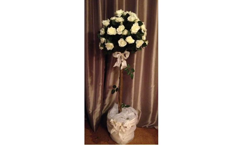Silk Rose Topiary Tree - to Hire or Buy