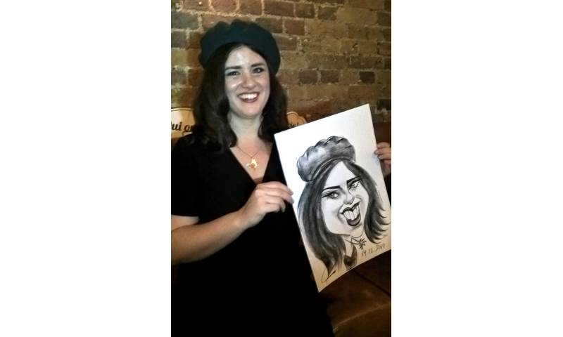 Caricaturist, Woman in Beret.jpg