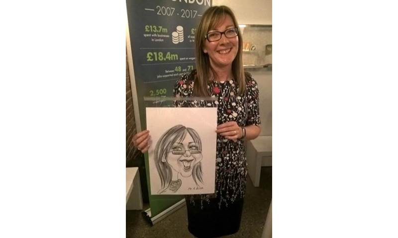 Caricaturist, Corporate party 1.jpg