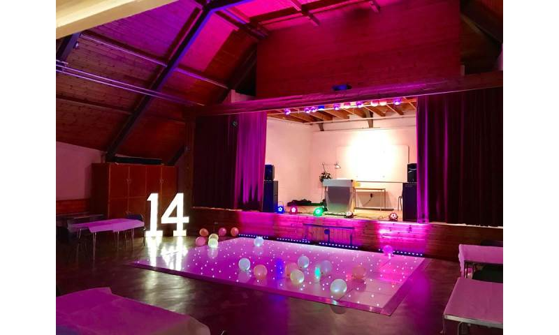 Heighington Village Hall, pretty in pink for a young ladies birthday party!!