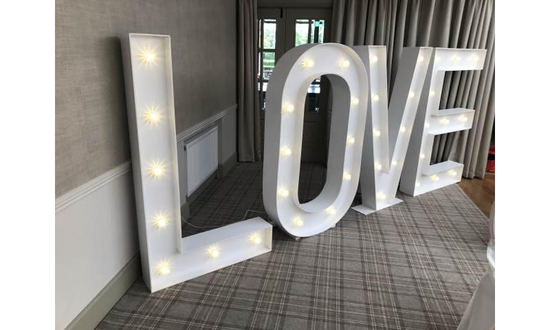 A little bit of Love, 5FT Led love for the gorgeous Headlam Hall hotel near Darlington.