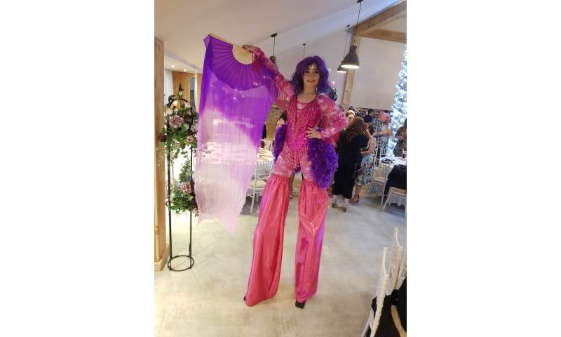 Ibiza - Purple and Pink Stiltwalker