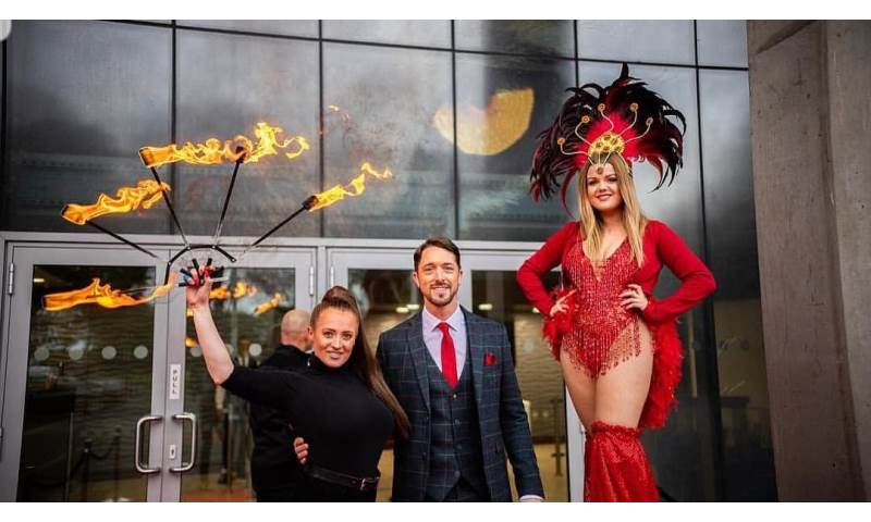 Boxing event - Stilts and Fire
