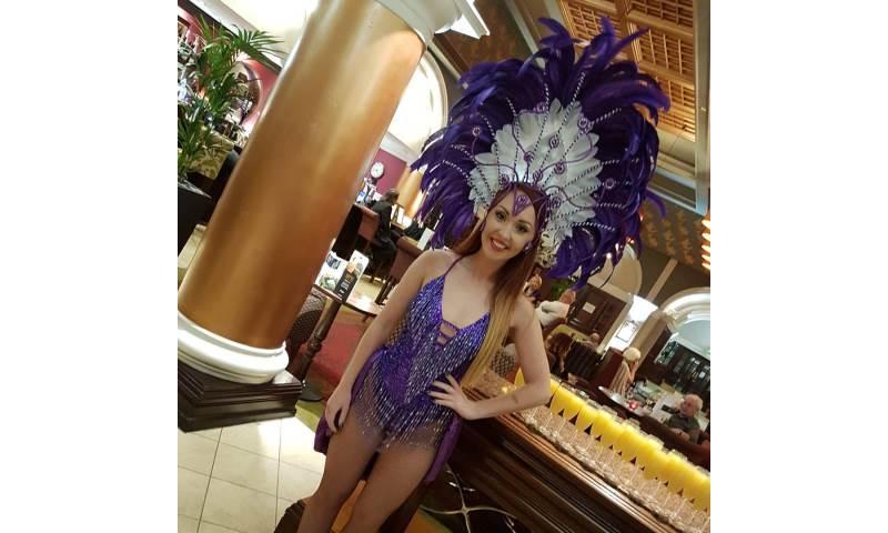 Purple Showgirl Hostess