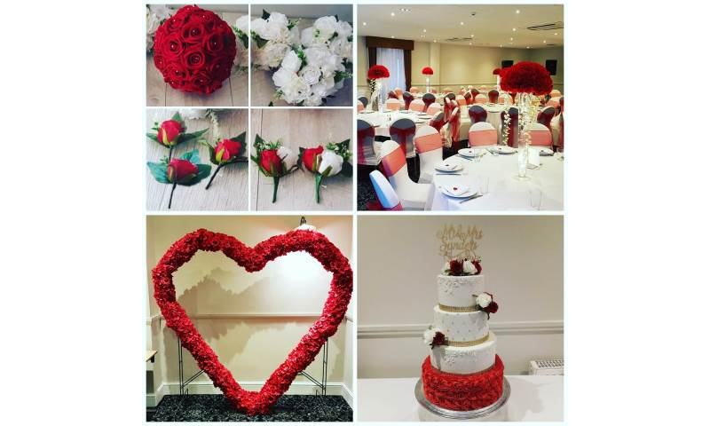 Red, Love themed wedding