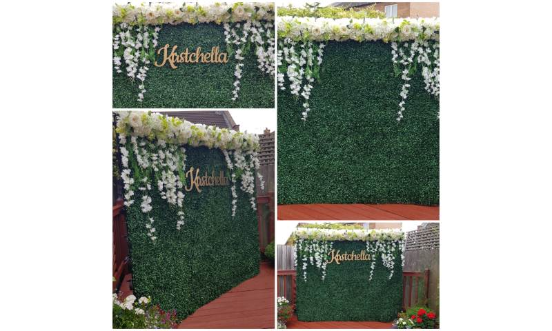 Our foliage wall - decorated/personalised to suit