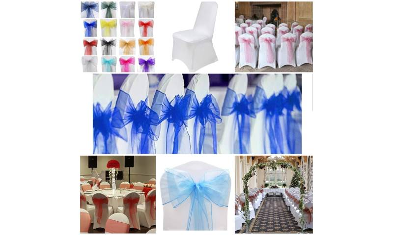a sample of our chair covers and sash colours