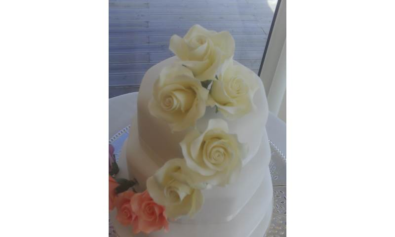 Beautiful handcrafted sugar lemon roses.