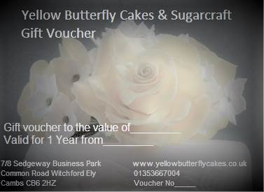 Yellow Butterfly Cakes & Sugarcraft Gift voucher.