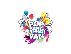 Pop Bang Party In A Van Logo